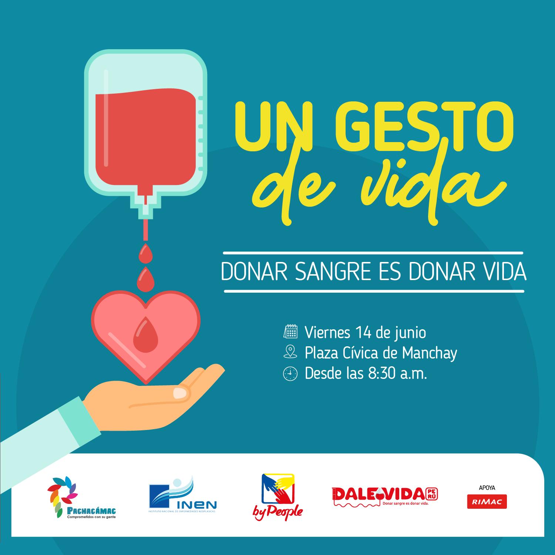 Dale Vida Pachacámac 2019: Donar Sangre es Donar Vida