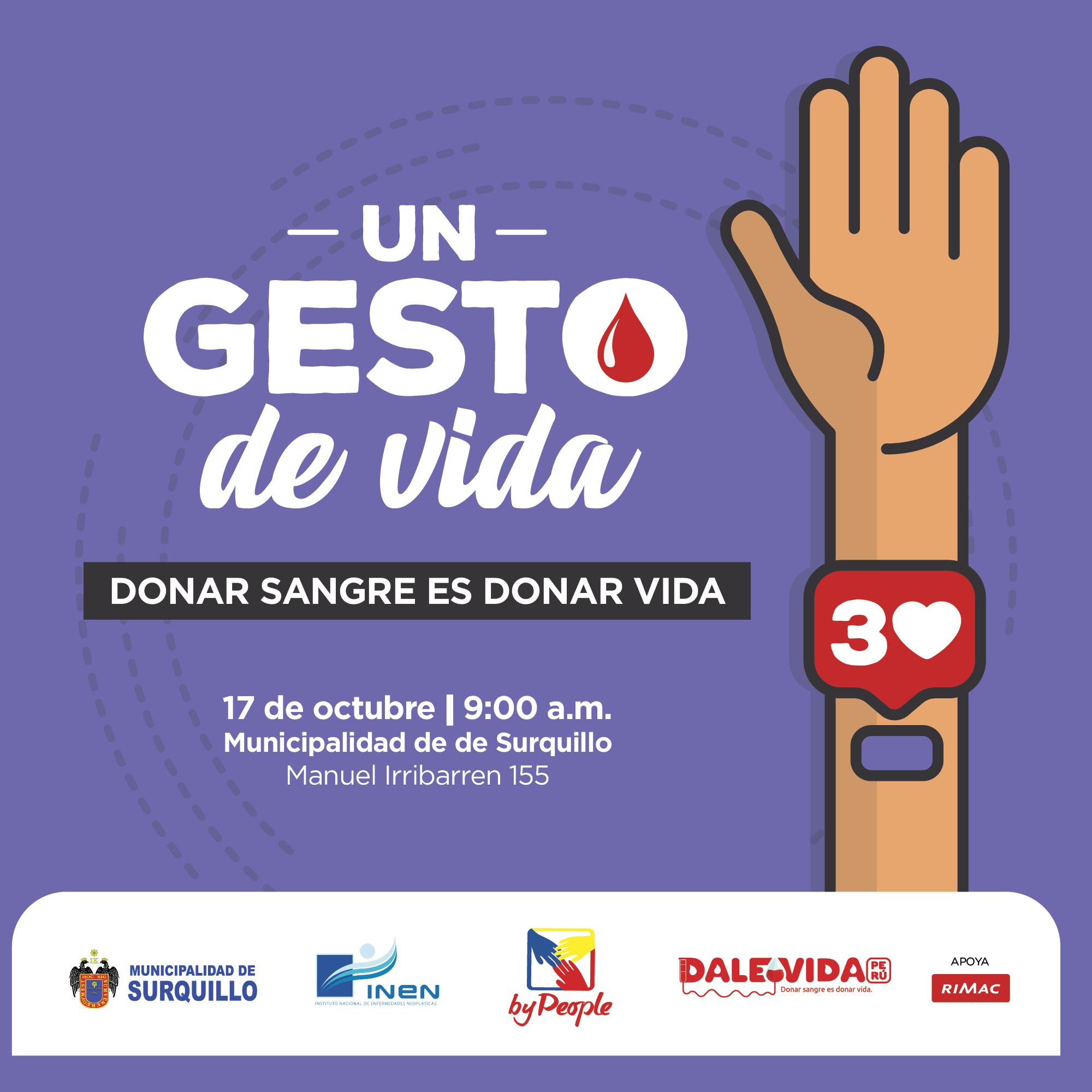 Dale Vida Surquillo: 17/10/2019
