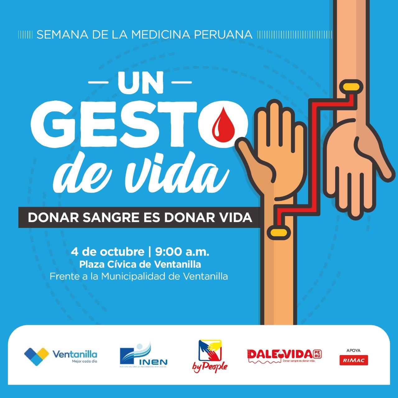 Dale Vida Ventanilla: 04/10/2019