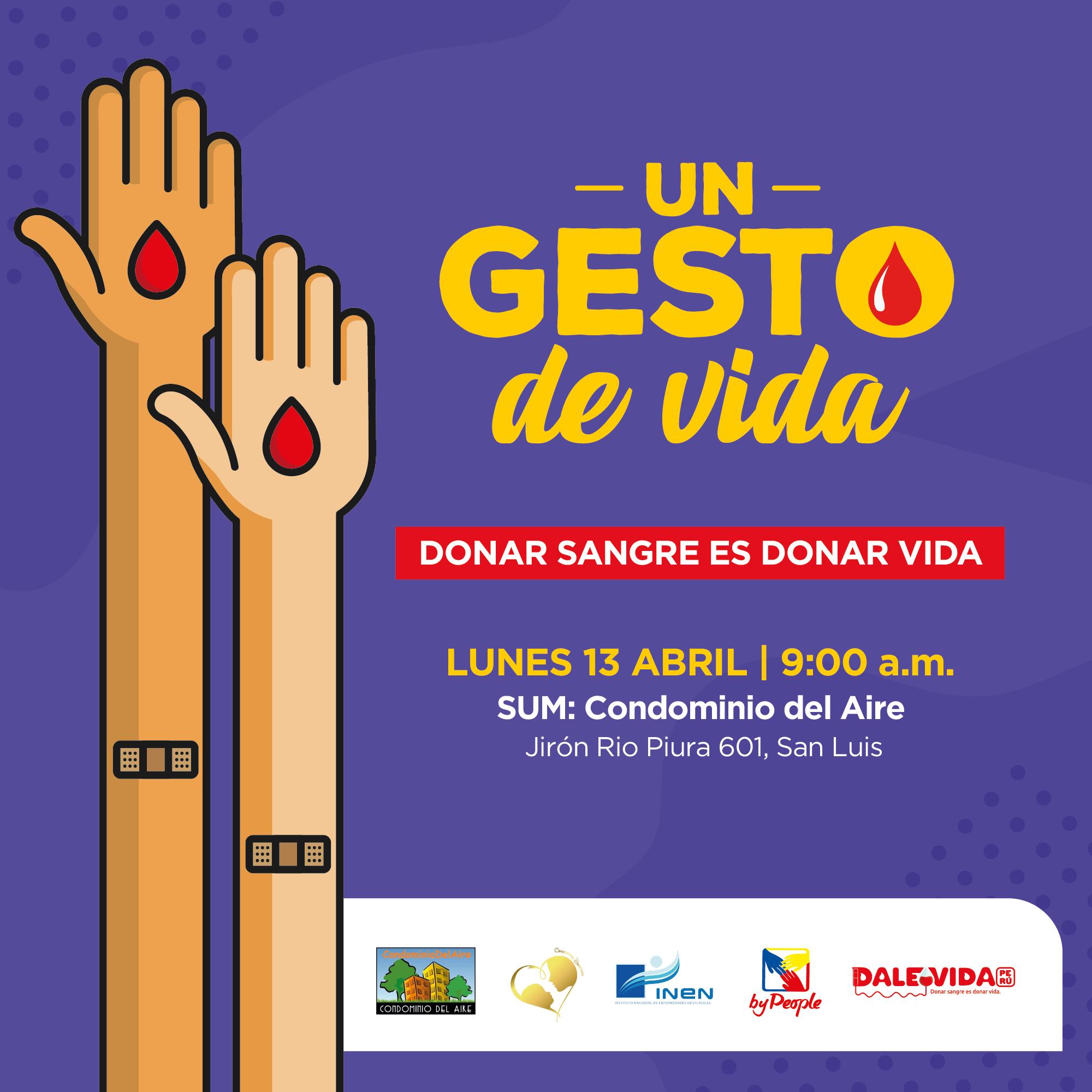 Dale Vida Condominio del Aire: 13/04/2020