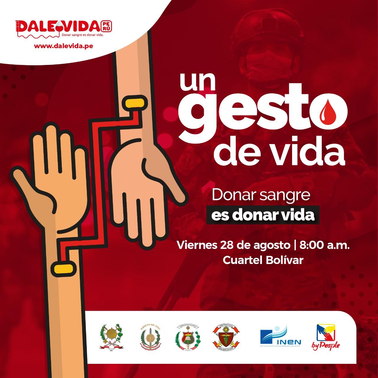 Dale Vida Ejercito del Perú - Cuartel Bolivar 28/08/2020