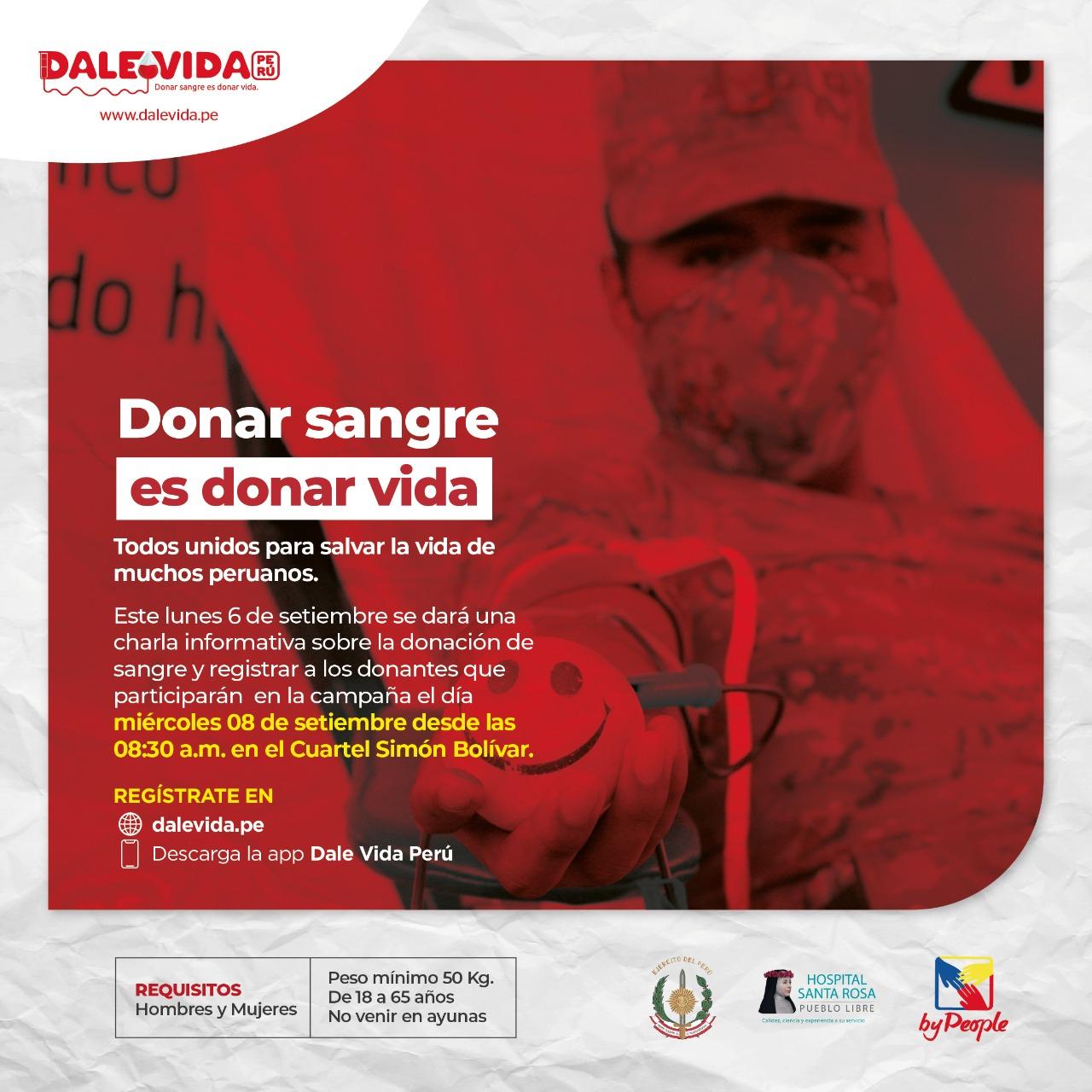 Dale Vida Ejercito del Perú - Cuartel Bolivar 09/09/2021